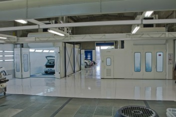 Installation of paint-drying booths
